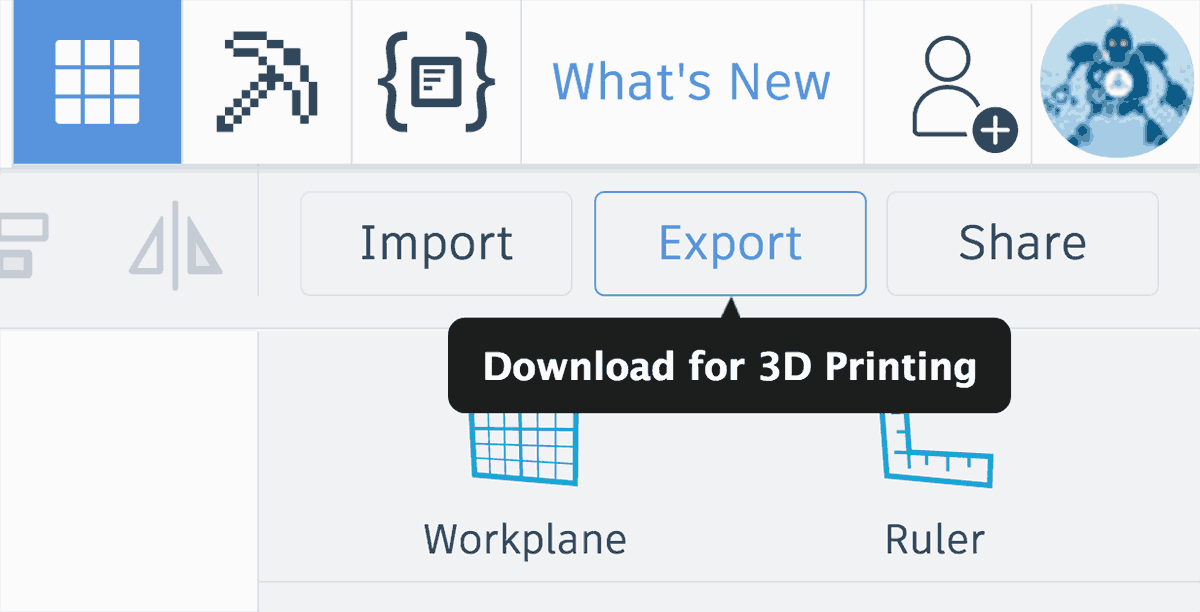 Tinkercad export 3d model