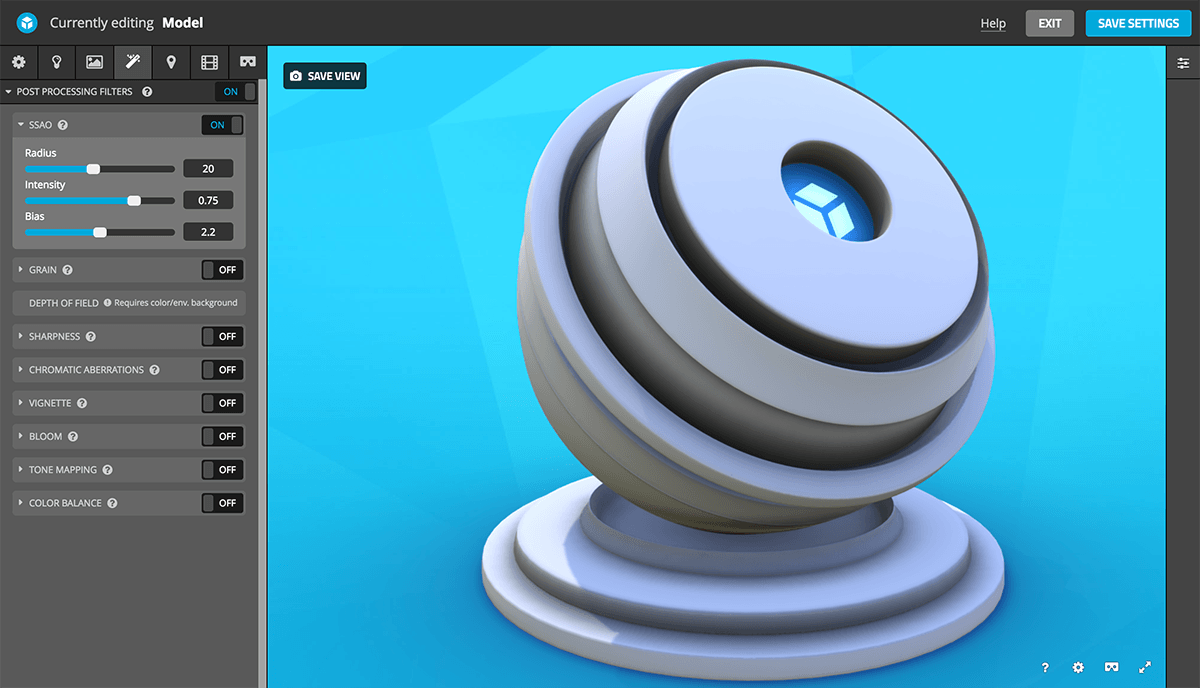 Post-Processing Filters – Sketchfab Help Center