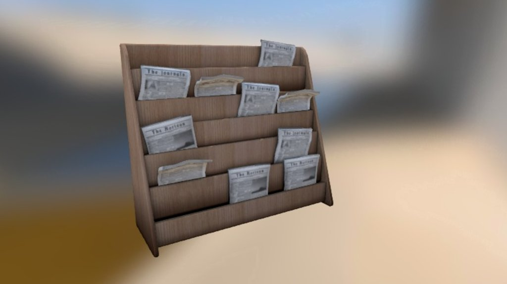Sketchfab category - news - Newspaper stand