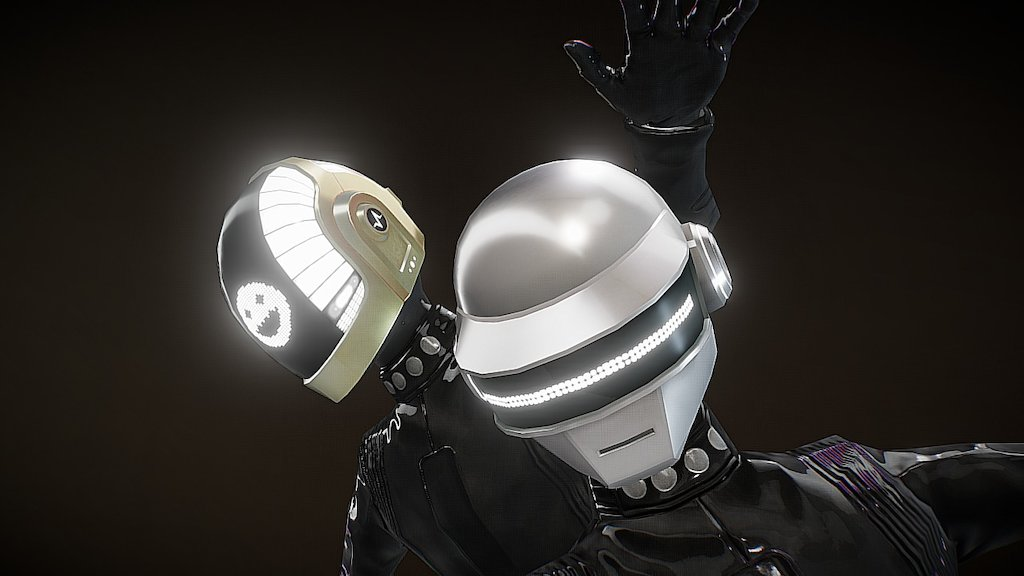 Sketchfab category - music - Daft Punk