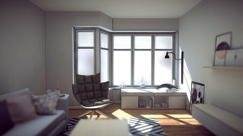 Sketchfab category - furniture - Nordic living room