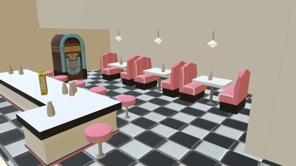 Sketchfab category - food - Diner