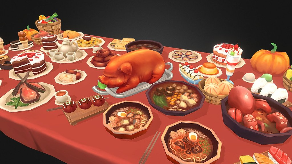 Sketchfab category - food - Delicious Food Stuffz
