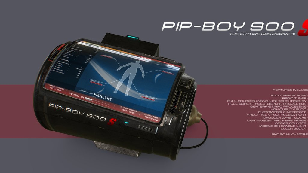 Sketchfab category - electronics - Pip boy