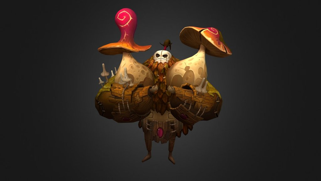Sketchfab category - characters - Mushroom Golem