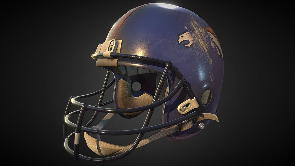 Sketchfab category - sports - Football helmet