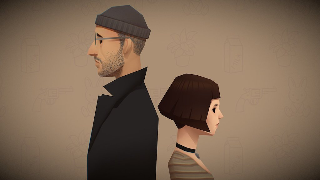 Sketchfab category - people - Leon and Mathilda