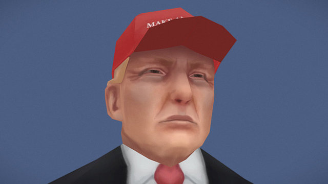 Sketchfab category - news - Trump