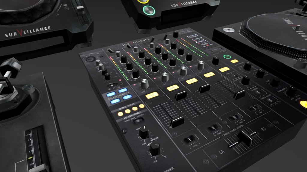 Sketchfab category - music - DJ Booth Equipment