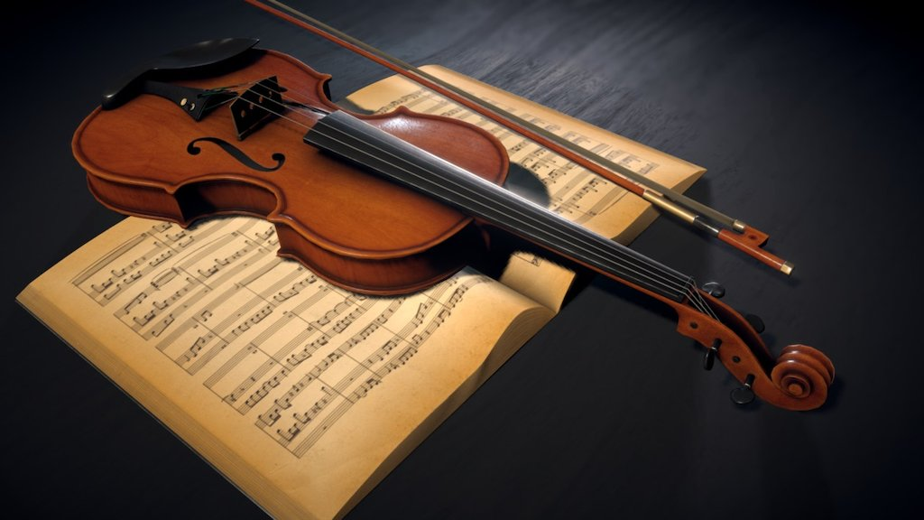 Sketchfab category - music - Classical scene