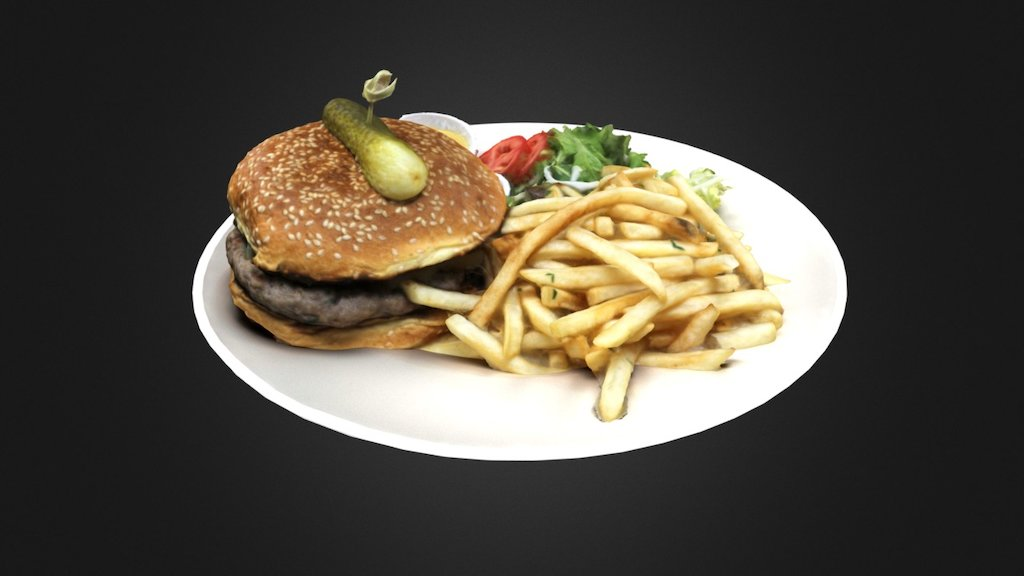 Sketchfab category - food - Hamburger