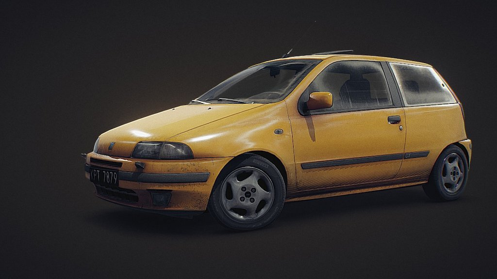 Sketchfab category - cars - Fiat Punto