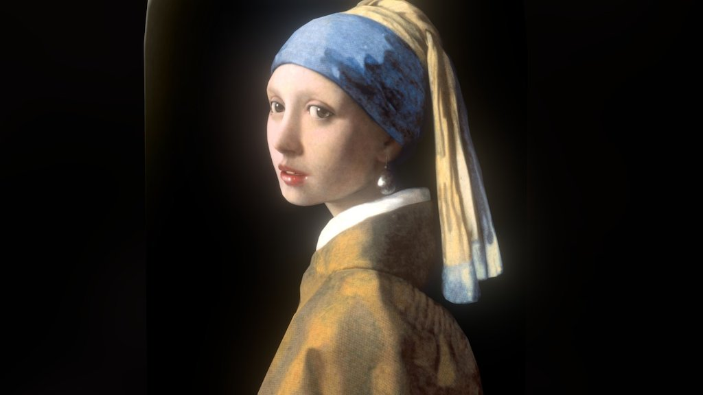 Sketchfab category - art - Girl with the Pearl Earring