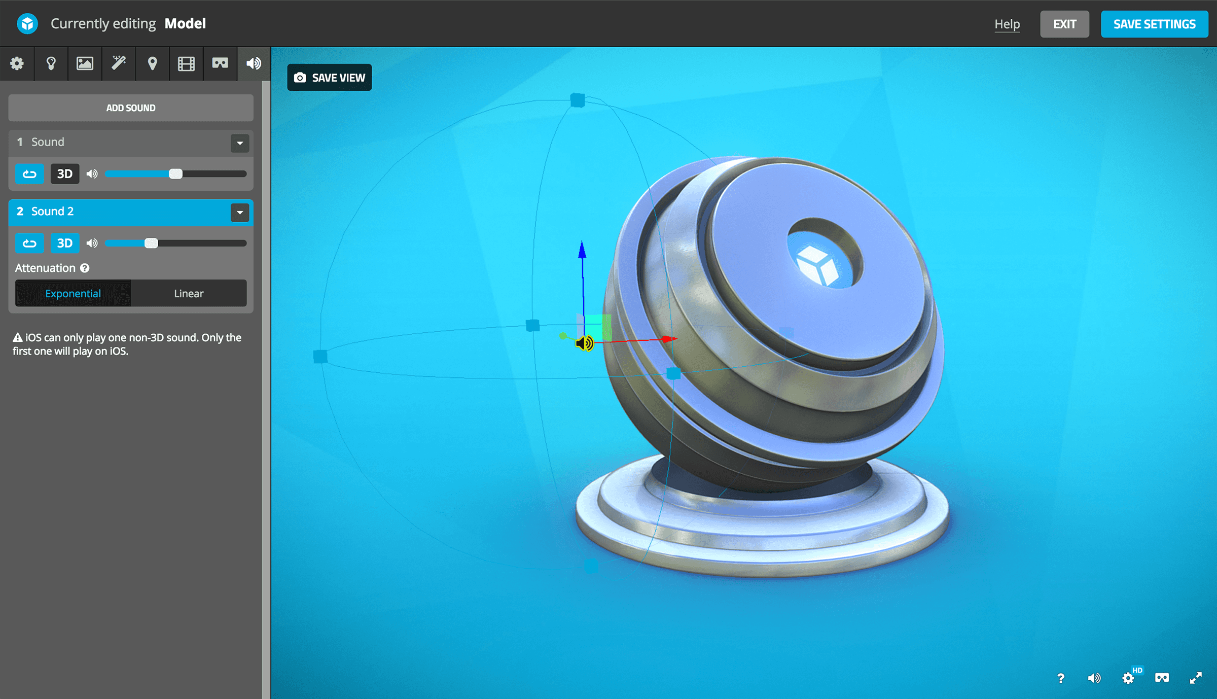 Sounds – Sketchfab Help Center