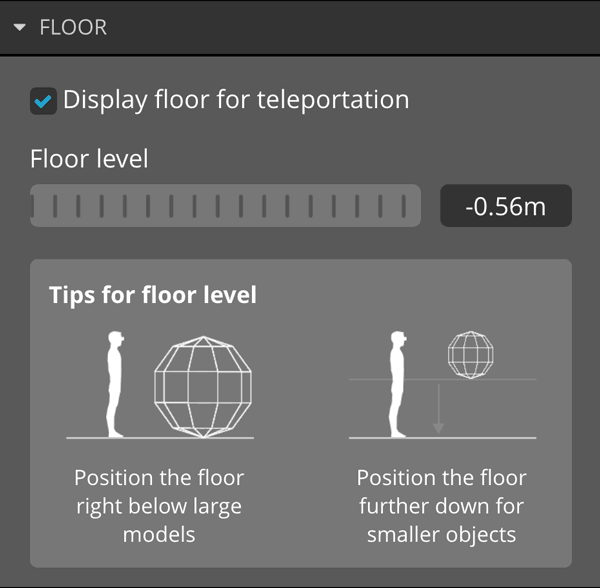 Sketchfab 3d model vr virtual reality settings floor
