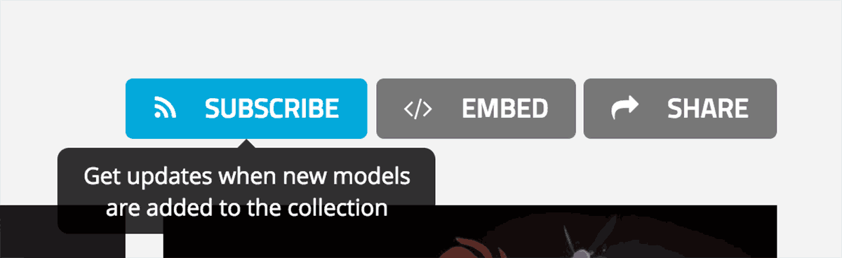Sketchfab 3d model collections subscribe