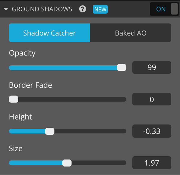 Sketchfab 3D model settings lights ground shadows shadow catcher