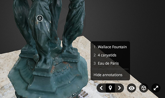 Sketchfab 3d model annotation settings