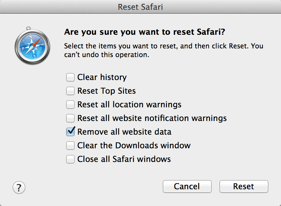 Safari delete cookies