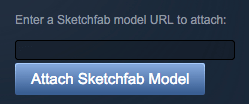 Embed a Sketchfab 3D model in Steam - Workshop URL Attach