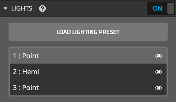 Sketchfab 3D settings editor lights